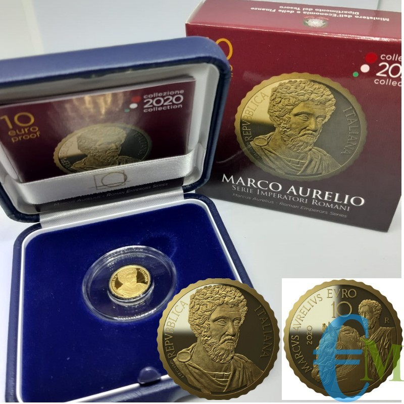 Italia 2020 - 10 euro oro Marco Aurelio - Serie Imperatori Romani