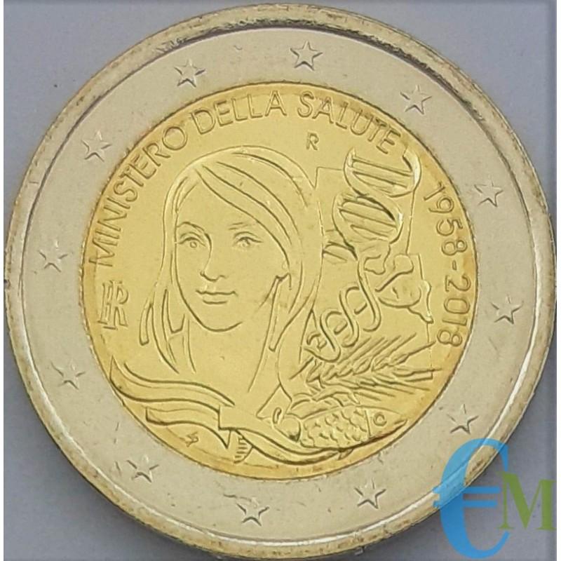 Italia 2018 - 2 euro commemorativo 60° anniversario dell'istituzione del Ministero della salute.