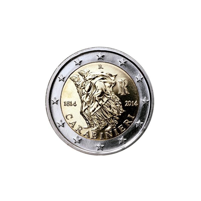 Italia 2014 - 2 euro commemorativo 200° anniversario dalla fondazione dell'Arma dei Carabinieri.