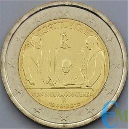 Italie 2018 - 2 euros 70e de la Constitution