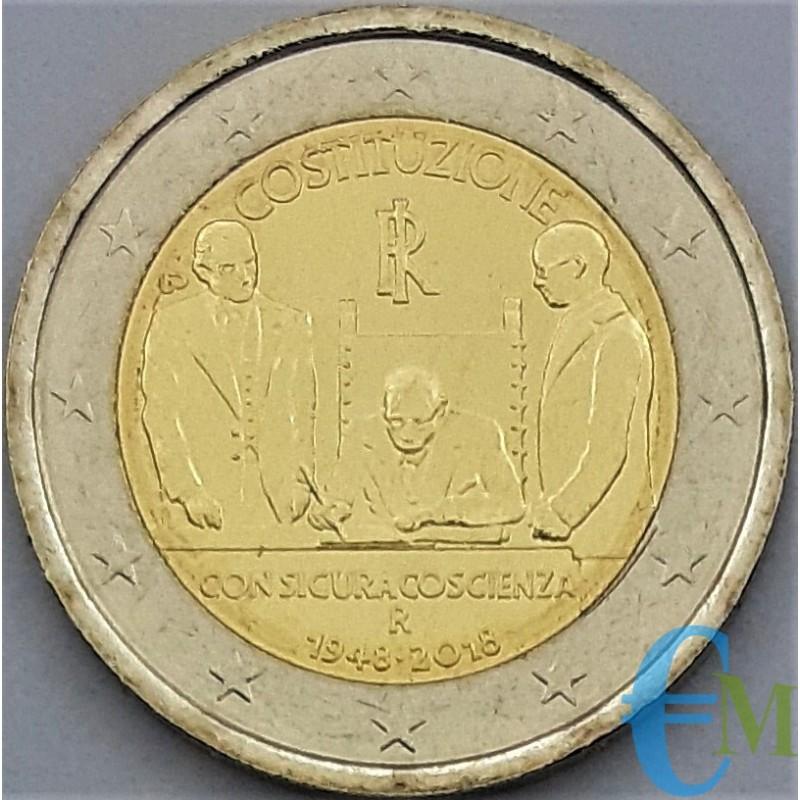 Italia 2018 - 2 euro commemorativo 70° anniversario della Costituzione italiana.