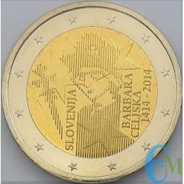 Slovénie 2014 - 2 euros 600e couronnement de Barbara di Cilli