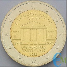 Estonia 2019 - 2 euro commemorative 100th anniversary of the foundation of the University of Tartu.