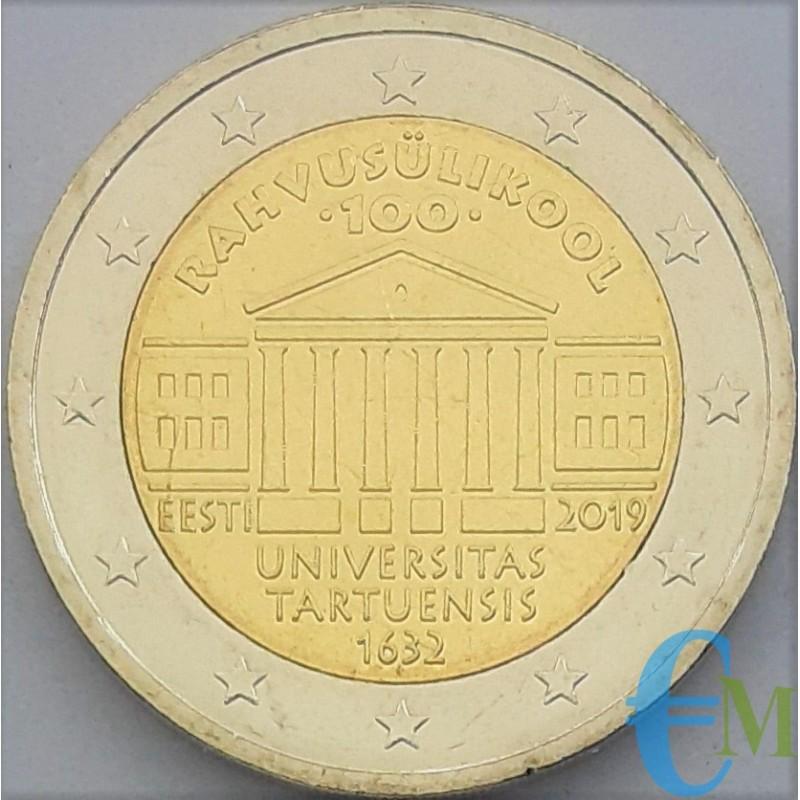 Estonie 2019 - 2 euros commémorative du 100e anniversaire de la fondation de l'Université de Tartu.