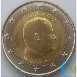 Monaco 2015 - 2 euros émis pour la circulation