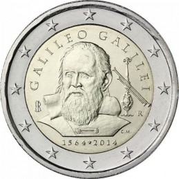 Italia 2014 - 2 euro commemorativo 450° anniversario dalla nascita di Galileo Galilei