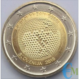 Eslovenia 2018 - 2 euros conmemorativos del día mundial de las abejas.