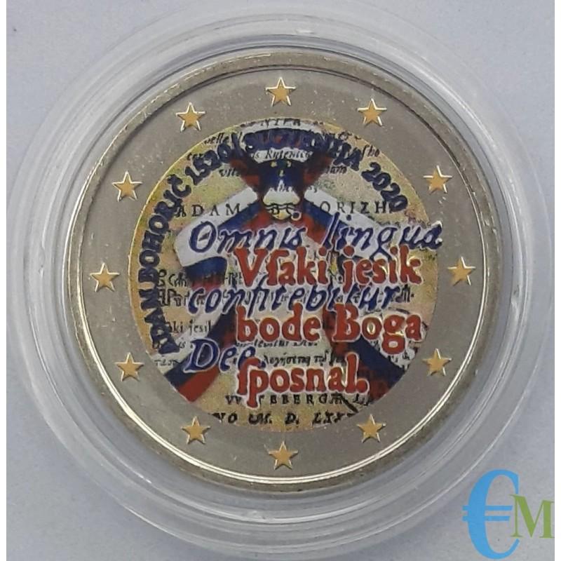 Slovenia 2020 - 2 euro colored commemorative coin 500th anniversary of the birth of Adam Bohorič