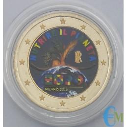 Italy 2015 - 2 euro colored commemorative coin World Expo Milano 2015
