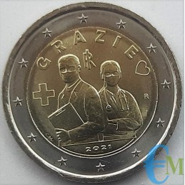 Italy 2021 - 2 euro commemorative Health Professions THANK YOU
