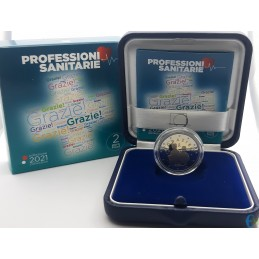 Italy 2021 - 2 euro Proof Health Professions THANK YOU