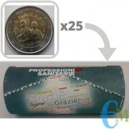 Rouleau officiel de 25 x 2 euros Mémorial Métiers de la Santé MERCI - Série Spéciale