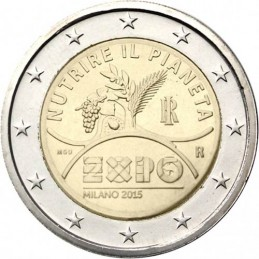 Italia 2015 - Moneda conmemorativa de 2 euros World Expo Milán 2015.