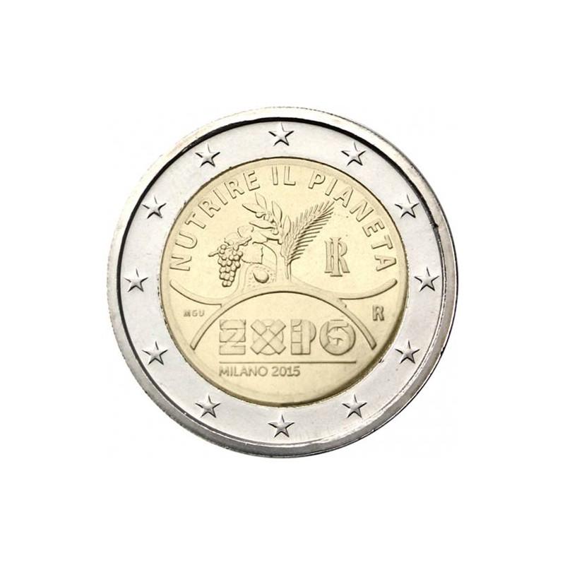 Italie 2015 - Pièce commémorative de 2 euros World Expo Milan 2015.