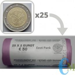Rollo oficial 25 x 2 euro conmemorativo símbolos lingüísticos urálicos antiguos.