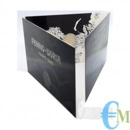 Estonia 2021 - 2 euro commemorativo antichi simboli linguistici uralici in coincard ufficiale di zecca