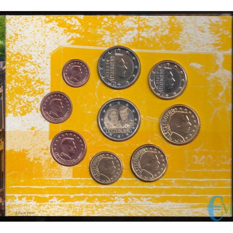 Luxembourg 2021 - Série Euro officielle - 9 valeurs dont 2 euros 40e mariage du Grand-Duc Henri