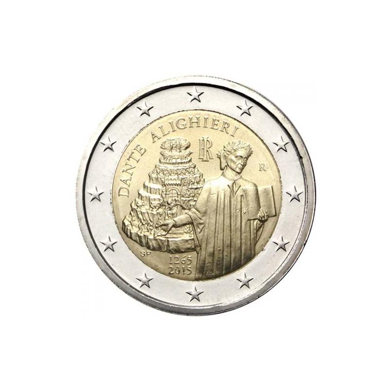Italia 2015 - 2 euro commemorativo 750° anniversario della nascita di Dante Alighieri.