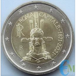 2 euro commemorative 150th anniversary of the establishment of Rome as the capital of Italy