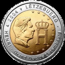 Luxemburgo 2004 - 2 euros monograma del Gran Duque Enrique