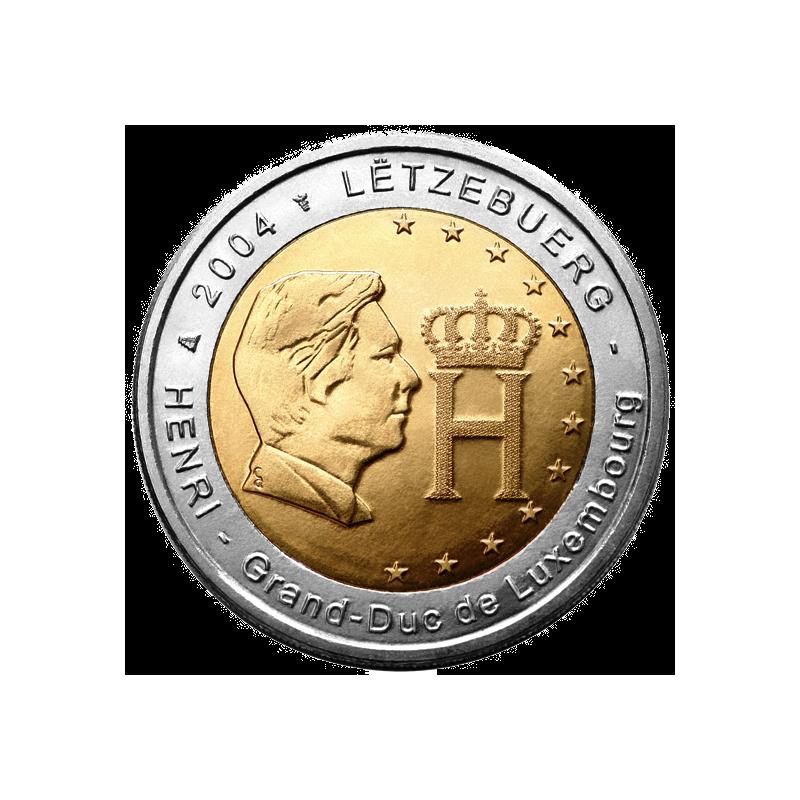 Lussemburgo 2004 - 2 euro commemorativo effigie e nonogramma del Granduca Enrico.