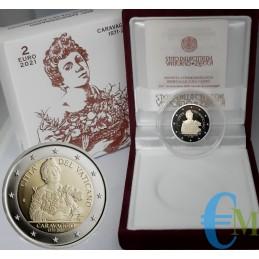 Vaticano 2021 - 2 euros Proof 450 aniversario del nacimiento de Caravaggio