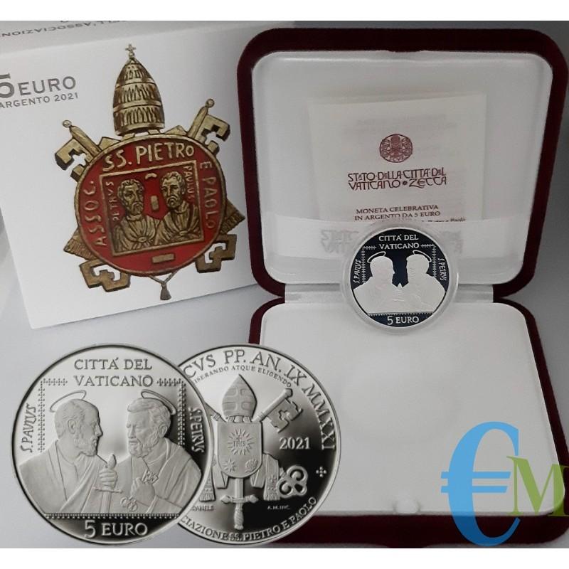 Vatican 2021 - 5 euros 50e de l'Association des SS. Pierre et Paul