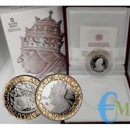 Vatican 2021 - 5 euros V Centenaire de la mort du Pape Léon X