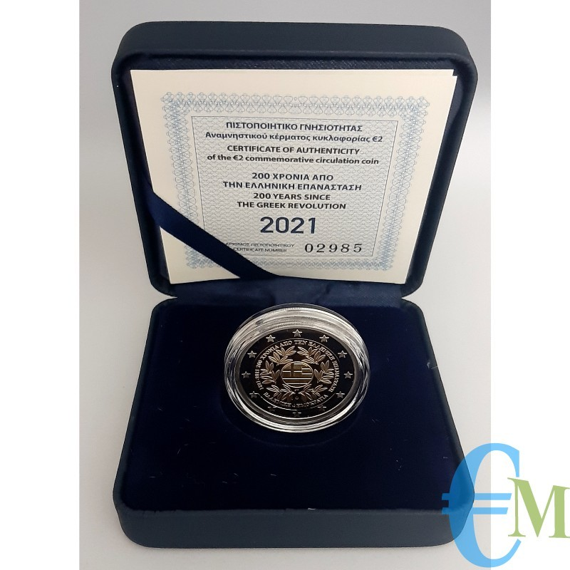 Grecia 2021 - 2 euro Proof 200º anniversario della Guerra d'indipendenza greca