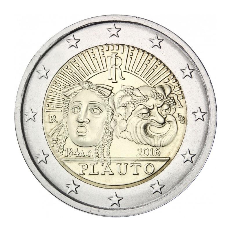 Italia 2016 - 2 euro commemorativo 2200° anniversario della morte di Tito Maccio Plauto.