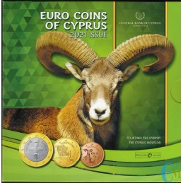 Chypre 2021 - Set officiel Euro - 8 pièces