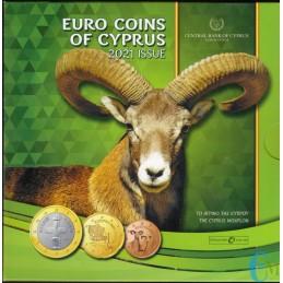 Cipro 2021 - Divisionale Euro Ufficiale - 8 valori