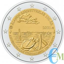 Finlandia 2021 - 2 euro 100º dell'autogoverno delle Isole Aland