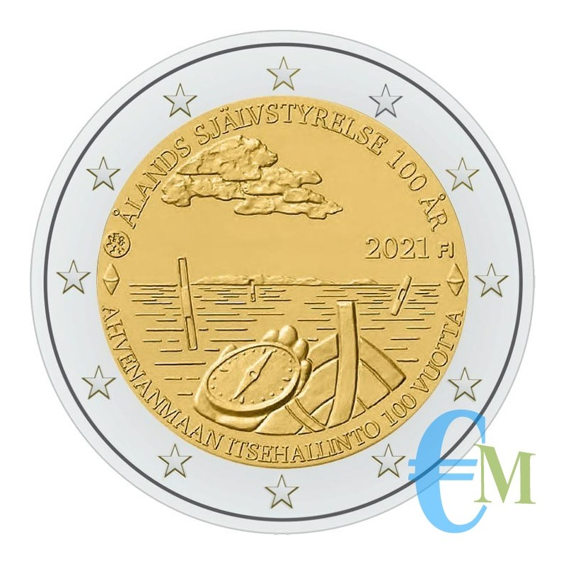 Finland 2021-2 euro 100th self-government of the Aland Islands