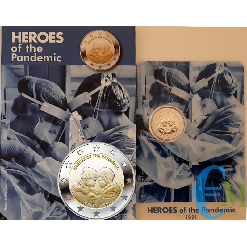 Malte 2021 - 2 euros Heroes of the Pandemic