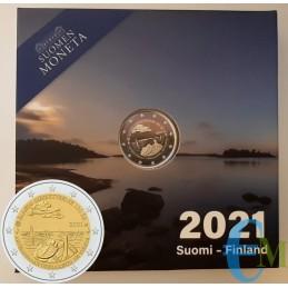 Finlandia 2021 - 2 euros Prueba número 100 del autogobierno de las Islas Aland
