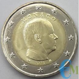 Monaco 2021 - 2 euros x circulation