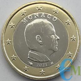 Monaco 2021 - 1 euro pour la circulation