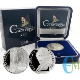 Italie 2021 - 5 euros 450e anniversaire de la naissance du Caravage