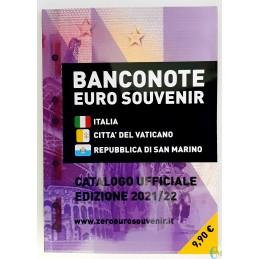 Catálogo de billetes de recuerdo en euros 2021/22
