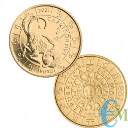 San Marino 2021 - 5 Euro Zodiaco Capricorno