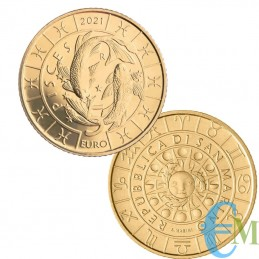 San Marino 2021-5 Euro Zodiac Piscis