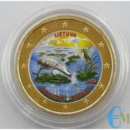 Lituania 2021 - 2 euro colorato Riserva della Biosfera di Žuvintas