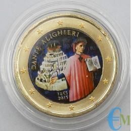 Italia 2015 - 2 euro colorato 750° nascita Dante Alighieri