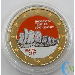 Malta 2017 - 2 euro colorato templi Hagar Qim