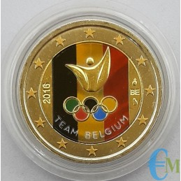 Bélgica 2016 - Juegos de Río de 2 euros coloreados
