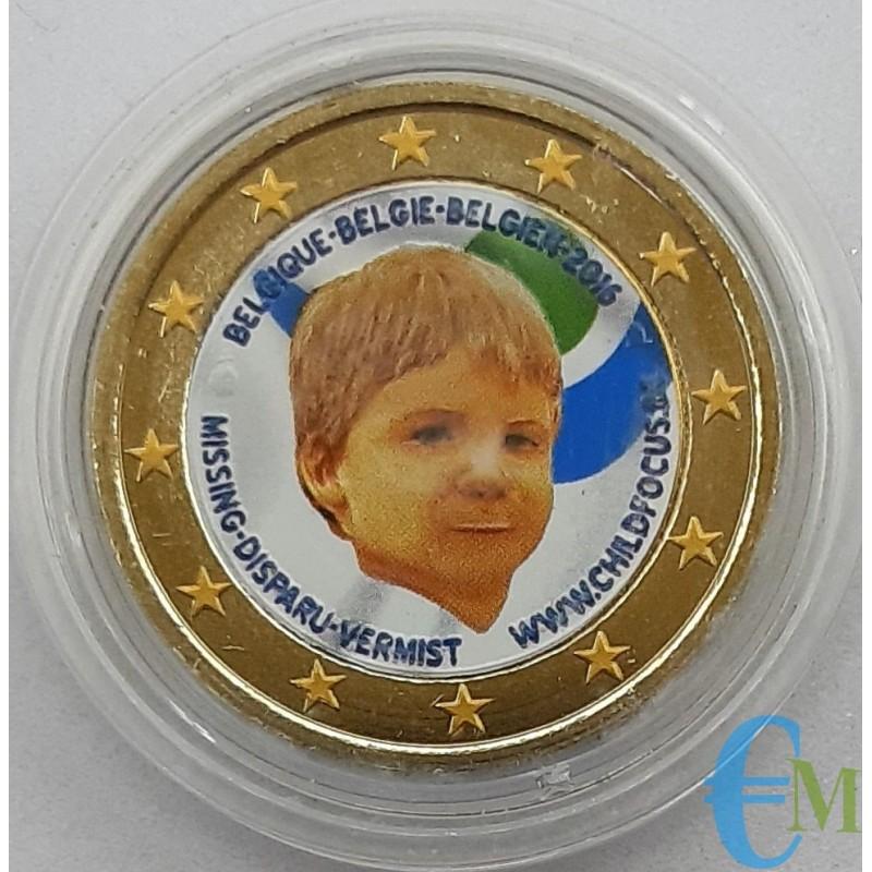 Belgio 2016 - 2 euro colorato Child Focus