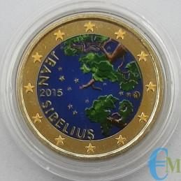Finlande 2015 - 2 euros coloriés 150ème Jean Sibelius