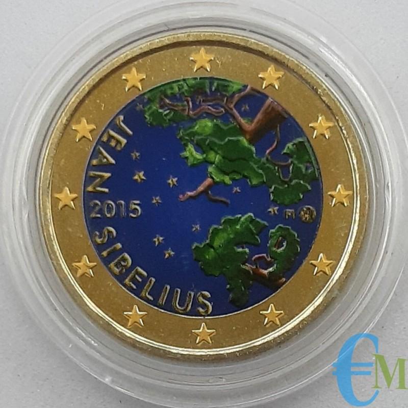 Finlandia 2015 - 2 euro colorato 150° Jean Sibelius