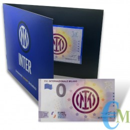 Italy - 0 euro 2021 FC INTERNAZIONALE MILANO - Official product in folder